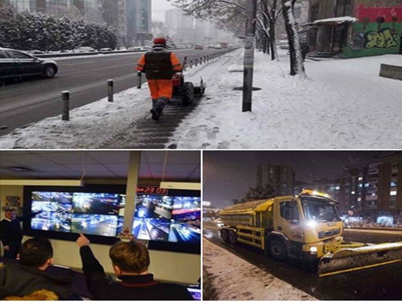 Reshjet e borës, Qyteti i Shkupit ka hedhur 355 tonë kripë