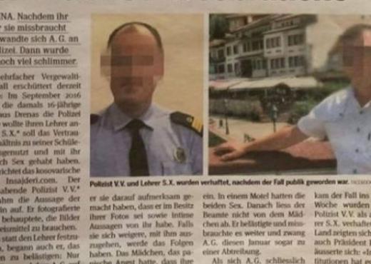 """Mësuesi dhe polici përdhunues """"shkojnë"""" deri në Zvicër"""