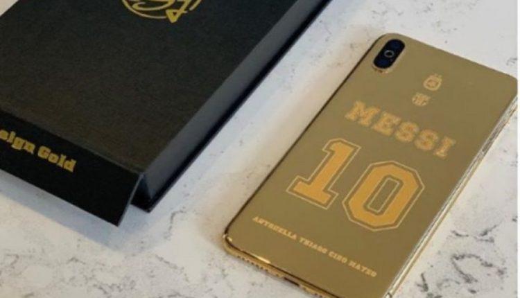 iDesign Gold i dhuron Messit një telefon nga ari 24 karatë