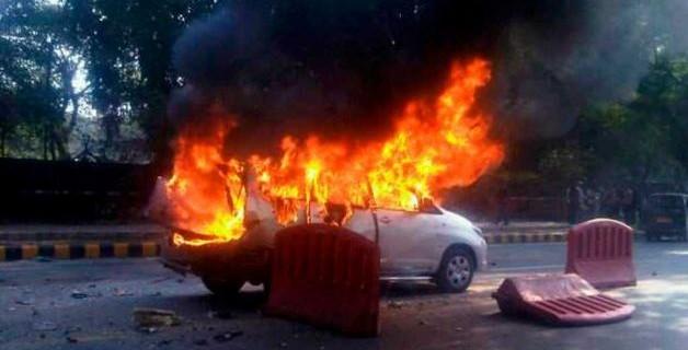 Shkup, është djegur një veturë në afërsi të Ramstorit