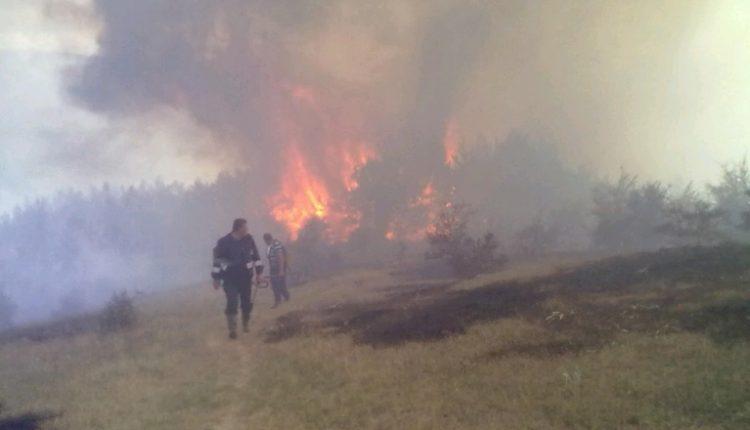 Vazhdon shuarja e zjarrit në Karadakun e Shkupit, angazhohen aeroplanë të DMSH-së