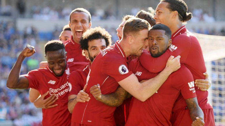 Liverpooli fiton me vështirësi ndaj Cardiffit dhe mban gjallë gjasat për titull