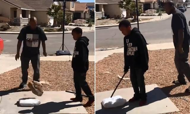 Merr nota të dobëta, babai detyron të birin ta thyejë Play Station (VIDEO)