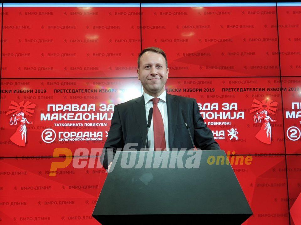 Igor Janushev: Gordana Siljanovska është në epërsi ndaj kundër kandidatëve