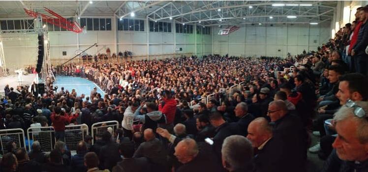 BDI-ja ka nga se frikësohet: Shihni pjesëmarrjen në tubimin e Blerim Rekës në Tetovë
