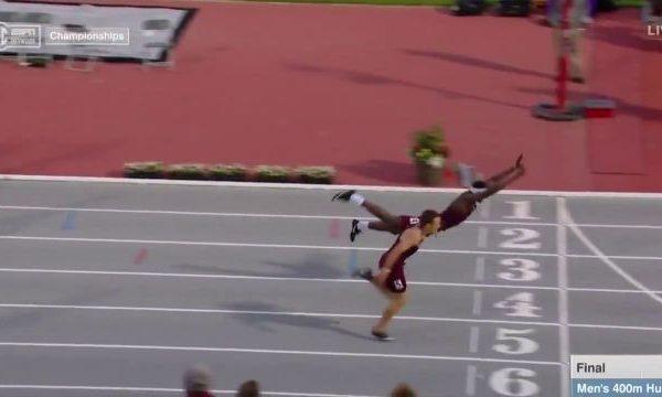 """Atleti e mbyll garën duke fluturuar si """"Supermen""""!"""
