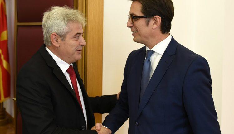 Pendarovski takon kreun e BDI-së, Ali Ahmeti