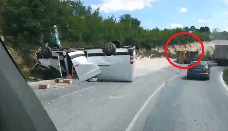 Aksident i rëndë trafiku në afërsi të Prilepit (VIDEO)
