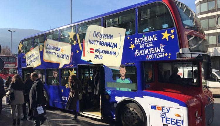 Autobusi udhëtues i BE-së do të udhëtojë nëpër vend me rastin e Ditës së Evropës 2019