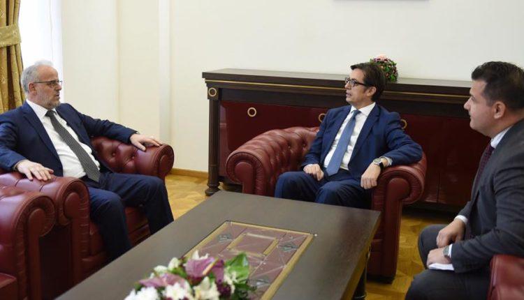 Takim i Kryetarit Xhaferi me Presidentin e shtetit, Pendarovski