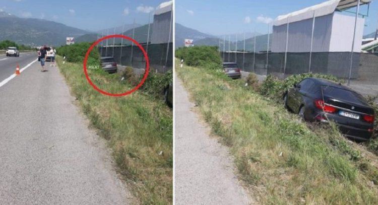 Aksident në autostradën Tetovë Shkup, dy makina fluturojnë në greminë