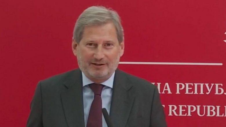 Hahn: Në tetor do të kryhet pritja, ju do filloni bisedimet