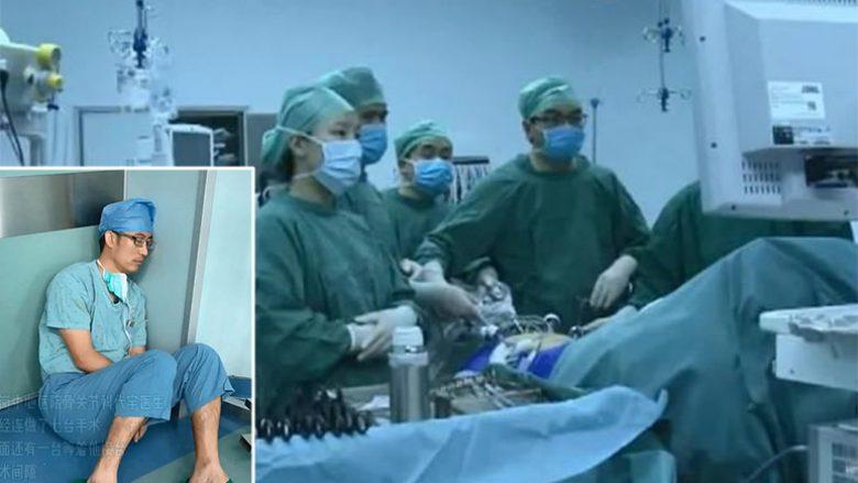 Kirurgun kinez e zë gjumi në dysheme, kreu shtatë operacione pa bërë asnjë minutë pushim