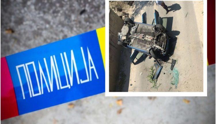 Gostivar: 20 vjeçari me makinë pa leje 'fluturon' nga rruga, lëndohen tre persona mes tyre një rëndë