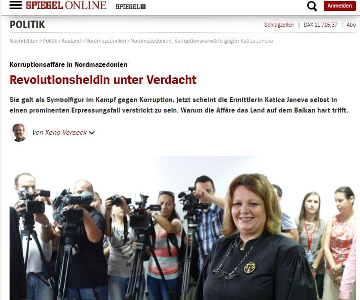 Spiegel: Shkatërrohet miti për heroinën Katica Janeva
