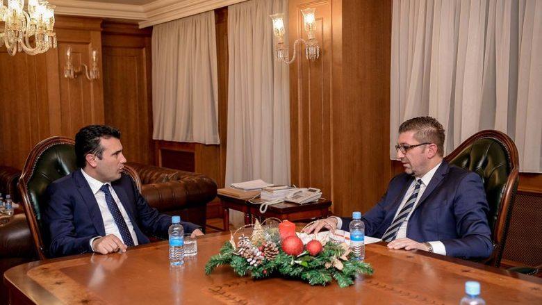 Zaev dhe Mickoski sot në takim, pritet marrëveshje finale për Ligjin për Prokurorinë Publike