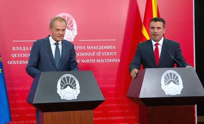 Tusk: Evropa e ka radhën, Republika e Maqedonisë së Veriut e bëri të veten