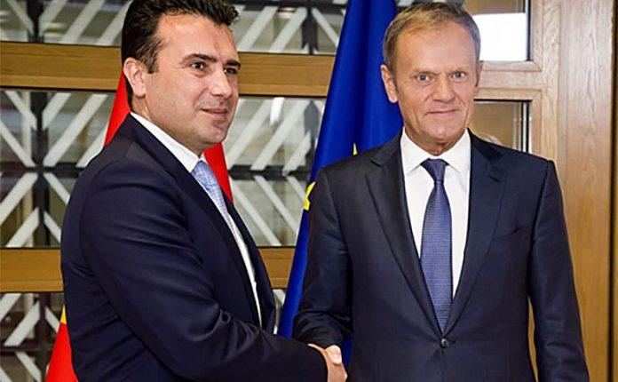Kryetari i Këshillit Evropian Donald Tusk në Shkup, takon kreun shtetëror