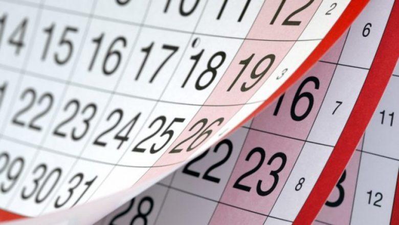 Maqedoni, kalendari i ditëve të pushimit për vitin 2020