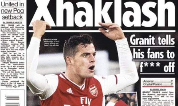 Xhaka i pushton ballinat e gazetave britanike, pasi i shau tifozët e Arsenalit
