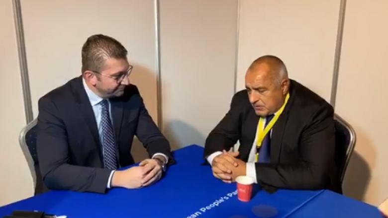 Mickoski në takim me Borissov: Anëtarësimi në BE është përcaktim strategjik i partisë sonë