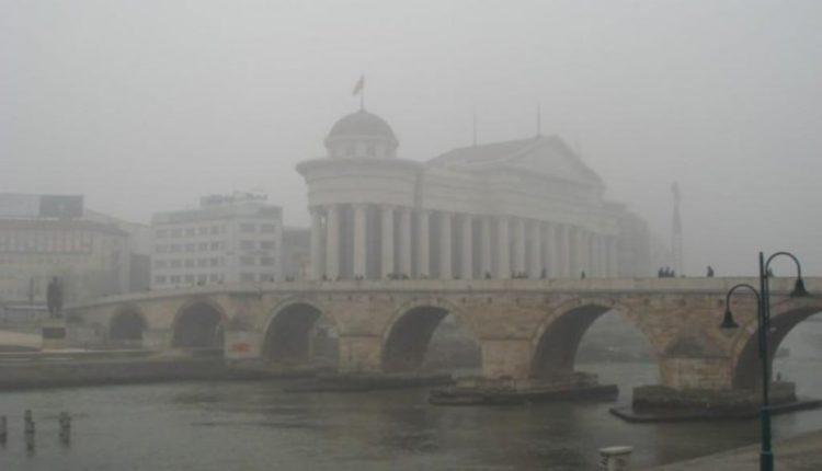 Ndotja e ajrit në Shkup, mbi normën e lejuar