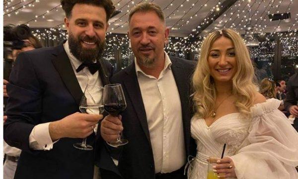 Sami Lushtaku në dasmën e Kreshës, pozon me çiftin