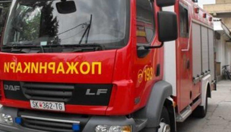 """Zjarri përfshinë spitalin """"13 nëntori"""" në Shkup"""
