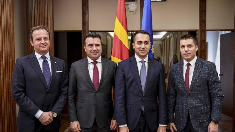 Zaev-Di Majo: Italia është partner strategjik e Maqedonisë së Veriut