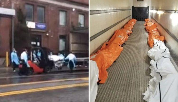 Video se si trupat e viktimave nga koronavirusi ngarkohen në një kamion-frigorifer (VIDEO)