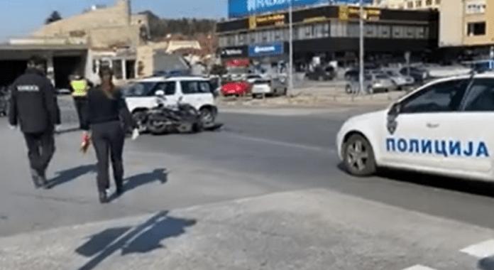 Shkup, aksident mes makinës së policisë dhe motoçikletës