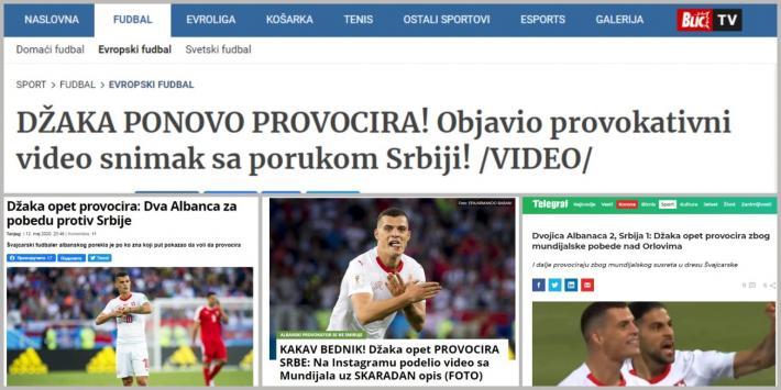 """Granit Xhaka """"tërbon"""" mediat serbe me postimin në Instagram"""