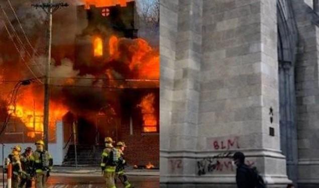 Zjarr para Shtëpisë së Bardhë, digjet kisha presidenciale në Uashington (VIDEO)
