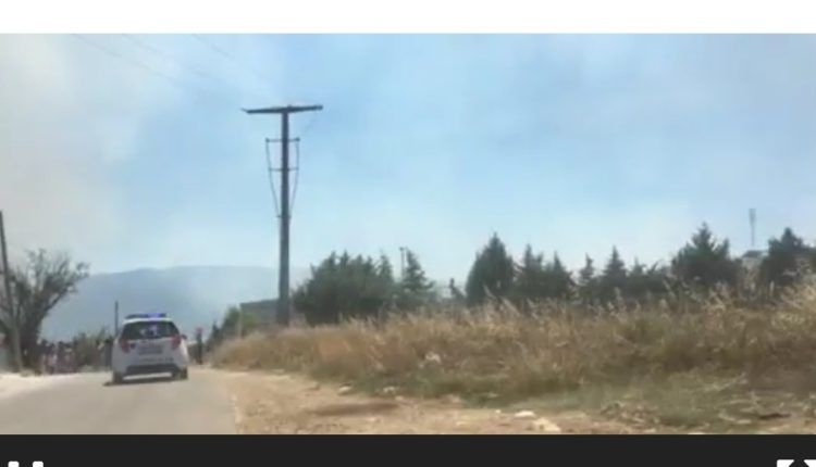 (Video) Zjarr në afërsi të Qendrës për migrantë