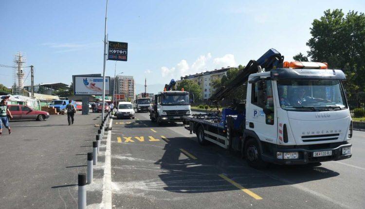 Për një javë janë larguar 227 automjete të parkuara në mënyrë të parregullt në Shkup