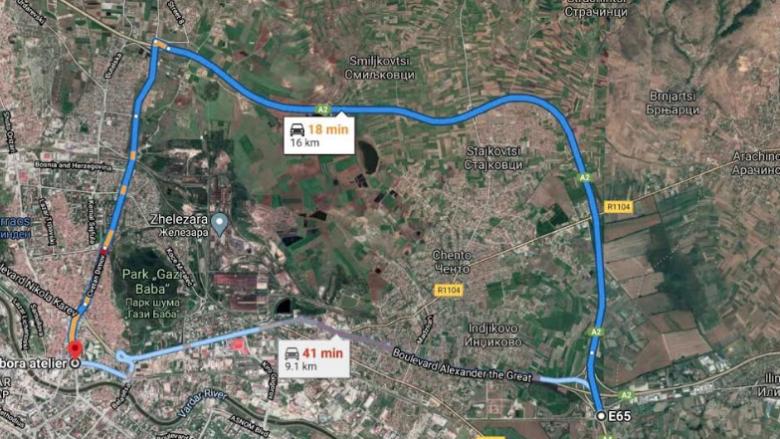 """Bashkia e Shkupit me apel: Shmangiuni bulevardit """"Aleksandri i Maqedonisë"""""""