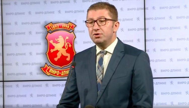 Mickoski: Maqedonasit ndjehen të turpëruar nga intervista e Zaevit, shihemi në rrugë!