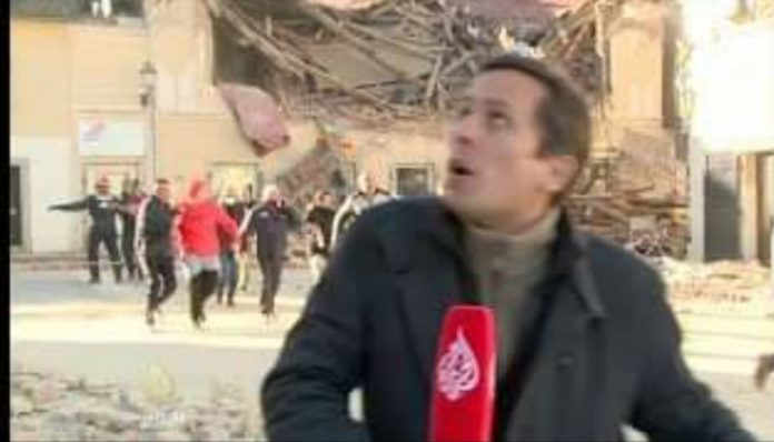 Momenti kur tërmeti godet Kroacinë derisa gazetari po raportonte nga vendngjarja (VIDEO)