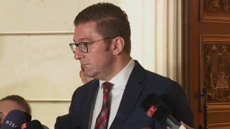 Mickoski për interpelancën ndaj Spasovskit: Do ta mbështesim opozitën shqiptare