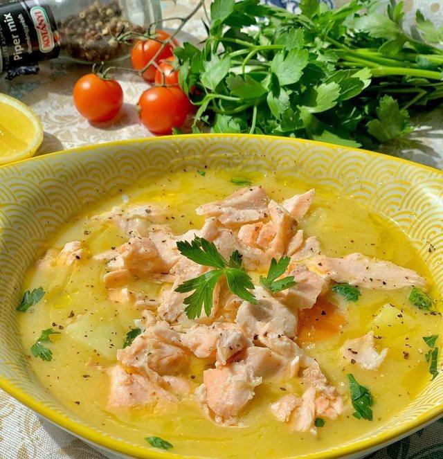 Supë peshku me karota e patate