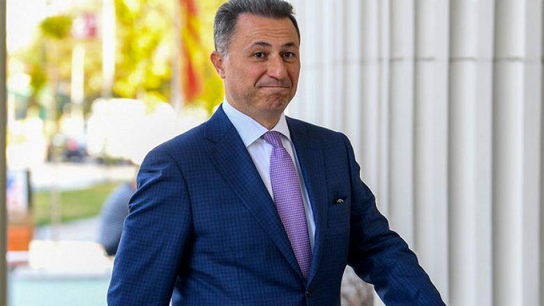 Pronat e ish-kryeminsitri Nikolla Gruevski janë ngrirë
