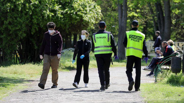 MPB Maqedoni: 22 shkelje të orës policore dhe 393 gjoba për mosmbajtje të maskave