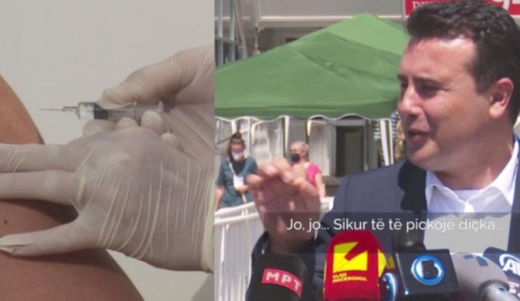 """""""Nuk dhembi, ishte sikur të të pickojë diçka""""! Zaev vaksinohet me """"Sinofarm"""""""