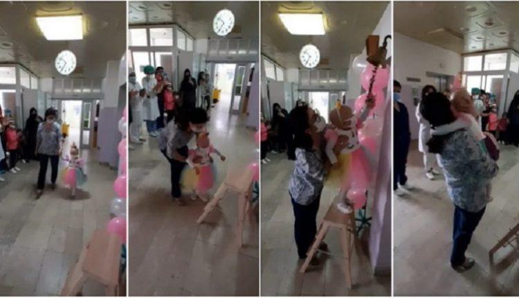 Vogëlushja nga Shkupi e mundi Covid-19 dhe kancerin, pamjet bëhen virale