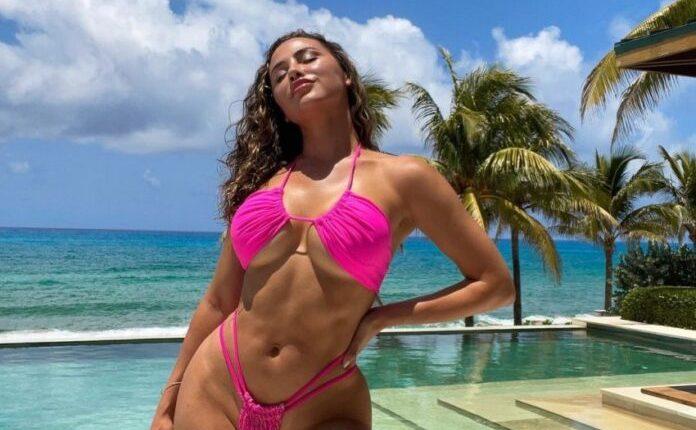 Ana Cheri ngacmon imagjinatën e ndjekësve me rroba-larje ngjyrë rozë