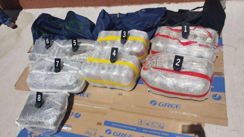 Policia e Maqedonisë sekuestron marihuanë në vlerë prej 200 mijë eurove, arreston tre shtetas të Shqipërisë