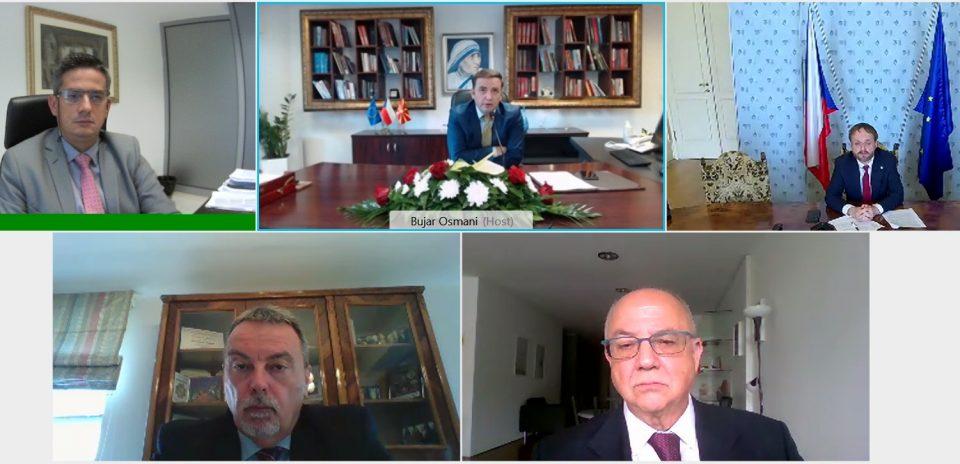 Bujar Osmani video takim me Ministrin e Punëve të Jashtme të Republikës Çeke, Jakub Kulhánek