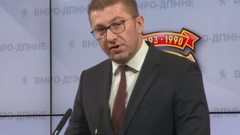 Mickoski: Protestojmë për të parë se për çfarë bisedojnë Zaev dhe Buçkovski me Bullgarinë