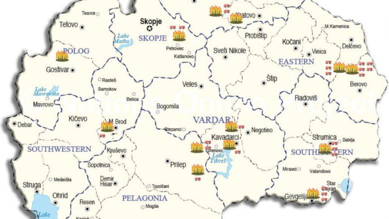Harta me zjarret aktive në territorin e Maqedonisë së Veriut