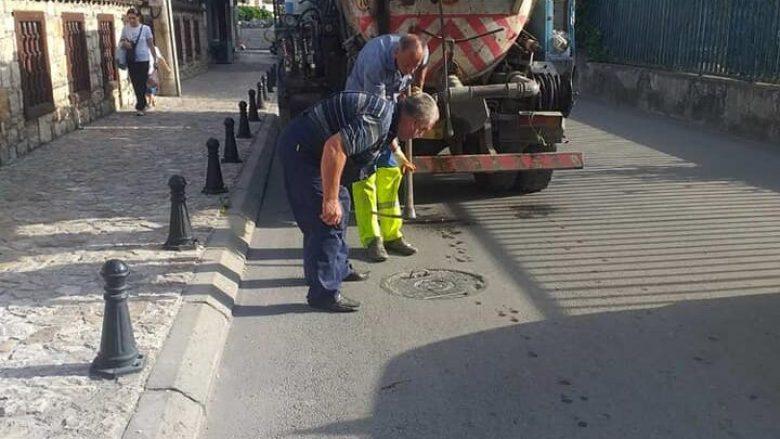 Pas paralajmërimeve për përmbytje, NPK Tetova pastron kanalizimet në qytet